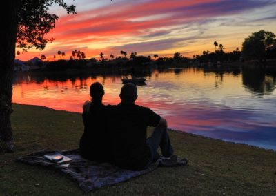Inspire Day Spa Picnic by the Lake The best day spa sunset in Arizona